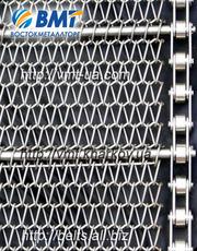 Сетка транспортерная плетеная металлическая.